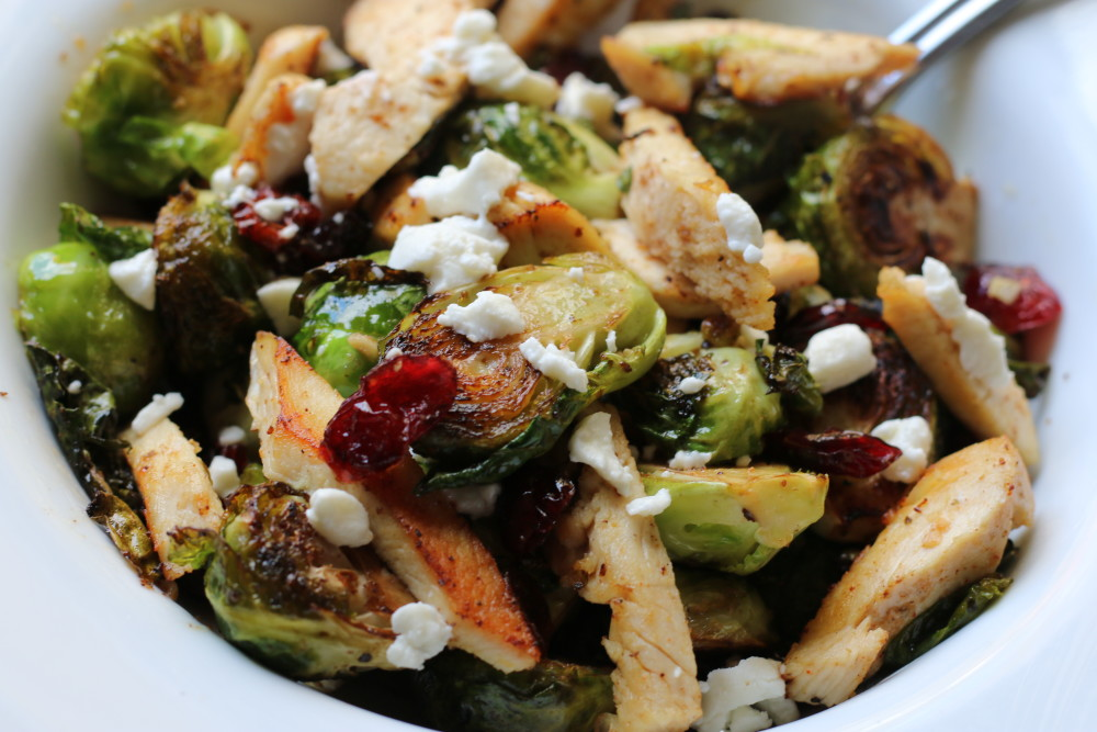 Chicken with Brussel Sprouts - Grab Some JOy