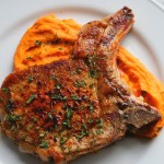 Brined Pork Chop with Sweet potatoes Recipe