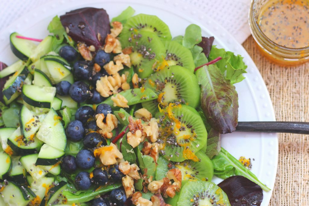 Blueberry Citrus Salad-GrabSomeJoy.com