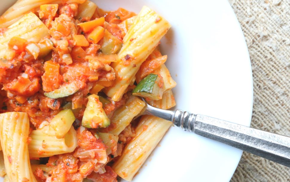 Garden Rigatoni Baked Pasta Grab Some Joy
