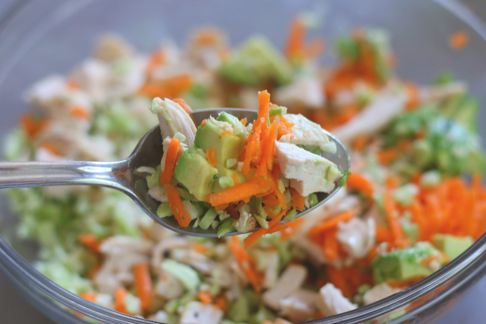 Carrot Ginger Chopped Chicken Salad 2 - GrabSomeJoy.com