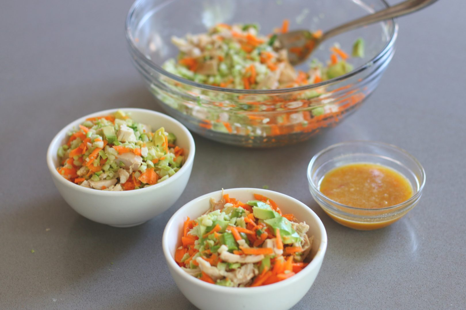Carrot Ginger Chopped Chicken Salad 3 - GrabSomeJoy.com
