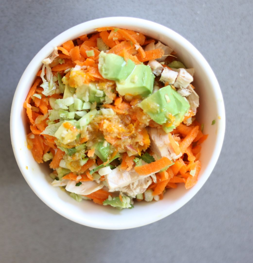 Carrot Ginger Chopped Chicken Salad 4 GrabSomeJoy.com